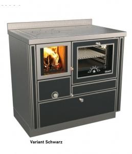 Holzherd Rizzoli RVI90 Variant mit Backofen und Sichtfenster