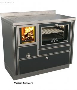 Holzherd Rizzoli RVI100 Variant mit Backofen und Sichtfenster