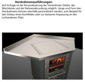 Holzherd Rizzoli ML80 Rustik mit Backofen