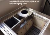 Holzherd Rizzoli RE45 Inox ohne Backofen