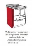 Holzherd Rizzoli RVE45 Epoka ohne Backofen, mit Sichtfenster