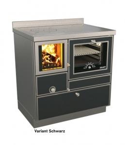 Holzherd Rizzoli RVE80 Variant mit Backofen, mit Sichtfenster