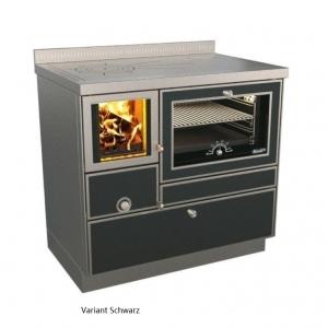 Holzherd Rizzoli RVE90 Variant mit Backofen, mit Sichtfenster