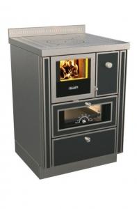 Holzherd Rizzoli RNVI60 Variant mit Backofen und Sichtfenster